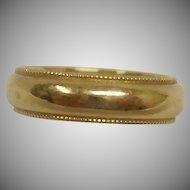 14K Yellow Gold Ring - Vintage 14K Gold Band Ring - Size 6 1/4