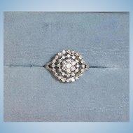Estate - 14 K White Gold Diamond Ring – Cluster Diamond Ring - 6 1/2