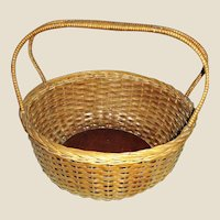 Vintage Sturdy Splint Gathering Basket