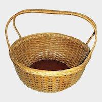 Vintage Sturdy Splint Gathering Basket