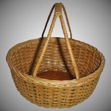 Vintage Ash Splint Gathering Basket