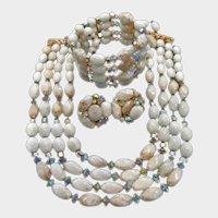 Hobe Demi Parure  - Necklace Bracelet Earrings Set - Vintage Hobe Jewelry