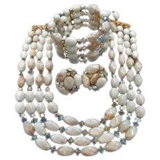 SALE -  Vintage Hobe Demi Parure Jewelry - Necklace Bracelet Earrings Set