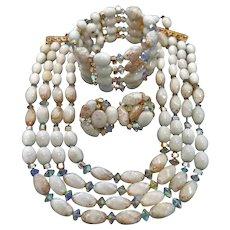 10828 Vintage Hobe Demi Parure Jewelry - Necklace Bracelet Earrings Set