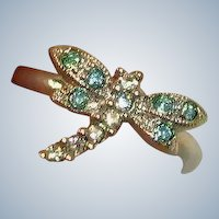Vintage  Pinky  DRAGONFLY Ring or Child's Ring - Size 3-1/2 US