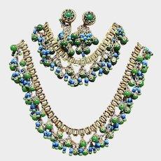 Miriam Haskell Jewelry Set -  Vintage Larry Vrba Designer Egyptian Revival Parure