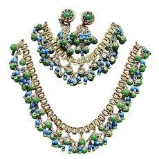 Larry Vrba Design Egyptian Revival Parure - Vintage Miriam Haskell Jewelry Sets
