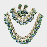 Larry Vrba Design Egyptian Revival Parure - Vintage Miriam Haskell Jewelry Sets