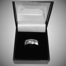 Estate Classic Sterling Silver 6mm Ring - Vintage Wedding Band Ring - Size 6
