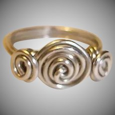 Vintage Sterling Silver Ring - Ca. 1980 - Size 6-3/4 USA