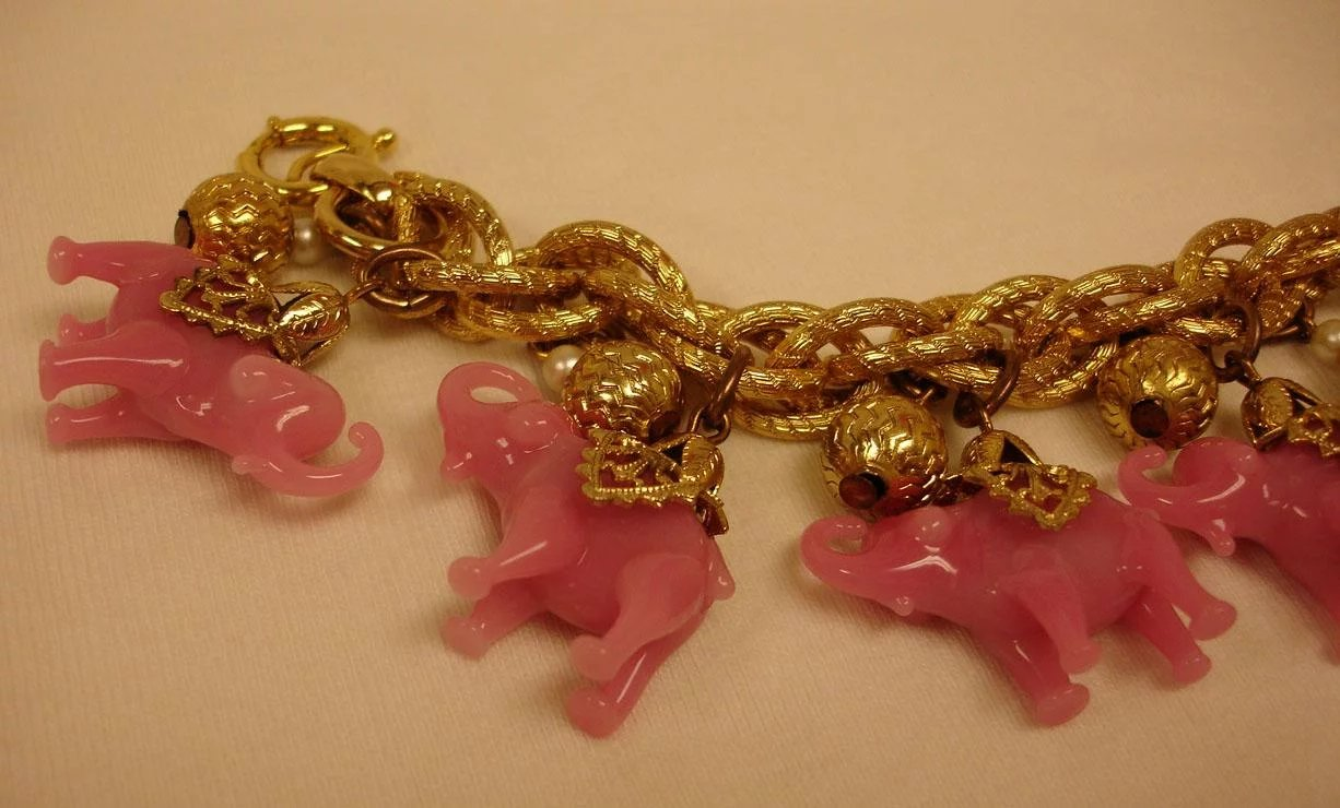 bangle bronze allergic anti tone elephant bypass three jewelry bracelet s layers beads bulky stretching mailing p charms amp charm list cooper silver coil