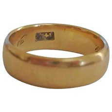 SALE - Vintage 14K Gold Band Ring - 6 1/2 US - 5 Grams Yellow Gold