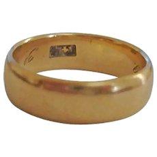 Vintage 14K Gold Band Ring - 6 1/2 US - 5 Grams Yellow Gold