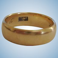 14K Gold Band Ring - 6 1/2 US - Estate Yellow Gold Ring