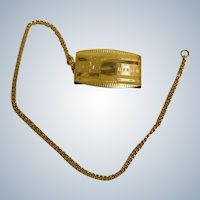 Early Art Deco / Roaring 20's - Gold Filled Watch Chain  + Belt Fob Clip