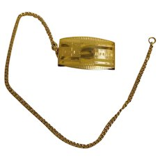 Early Art Deco - Roaring 20's  Watch Chain and Belt Fob Clip
