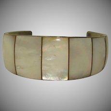 Vintage Mother of Pearl Cuff Bracelet