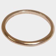 1930's Platinum Wedding Band Ring– Size 4-3/4