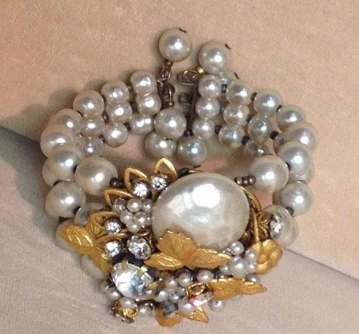 baroque pearls chain bracelet bracelets mm gold en multicolored on