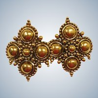Vintage Gold Tone Barrera Runway Earrings - Barrera by Avon Earrings - Adriatic Collection