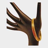 Vintage  Gold Tone Textured Bangle Bracelet