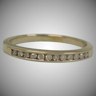 Estate Diamond Band Ring – Size 6 USA Eternity Band - Art Deco 14K White Gold Diamond Wedding Ring