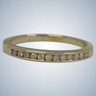 Estate Diamond Band Ring – Size 6 USA Eternity Band - Art Deco 14K White Gold Diamond Wedding Ring