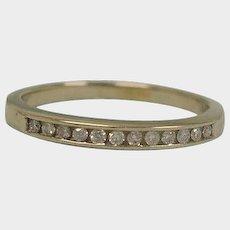 30%+ off SALE - Vintage Size 6 USA Eternity Band - Art Deco 14K White Gold Diamond Wedding Band Ring