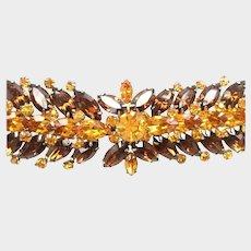 Vintage VENDOME Marquise Cut Rhinestone Bracelet