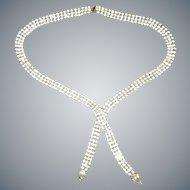 Vintage 3 Row Rhinestone Necklace