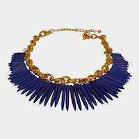 KJL  Spike Necklace - Vintage Kenneth Jay Lane Tribal Jewelry