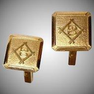 Vintage 18K Yellow Gold Cufflinks - 18K Gold Cuff Links -  B