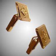 18K Yellow Gold Cufflinks - Vintage 18K Gold Cuff Links - Initial B