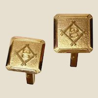 Vintage 18K Yellow Gold Cufflinks - 18K Gold Cuff Links Marked B