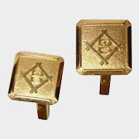 Vintage 18K Yellow Gold Cufflinks - 18K Gold Cuff Links Marked B