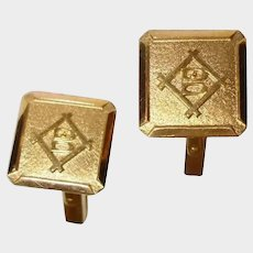Vintage 18K Yellow Gold Cufflinks - 18K Real Solid Gold Cuff Links Marked B