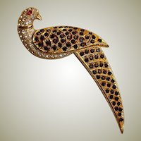 Vintage  BUTLER & WILSON Couture Brooch / Pin – B&W Pave Rhinestone Bird Brooch