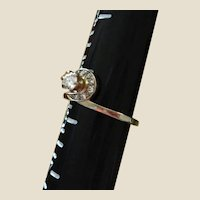 1/3 Carat Diamond Ring - Surrounded by a Swirl of Small Cut Diamonds - Engagement Ring