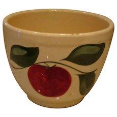 """Vintage  Watt Pottery  ICE BUCKET  # 73 – Apple and 3 Leaf Pattern  6"""" Deep"""
