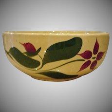 Vintage  Starflower Watt  Pottery Serving Bowl  - Yellow Ware Starflower Serving Bowl