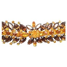 Vintage VENDOME Marquise Rhinestone Bracelet - 40% Off SALE