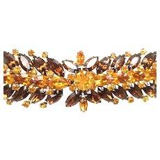 Vintage VENDOME Striking Marquise Rhinestone Bracelet