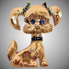 Vintage GERRY Puppy Dog - Poodle Pin