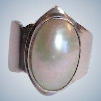 Vintage Sterling Silver NAKAI Pearl RING