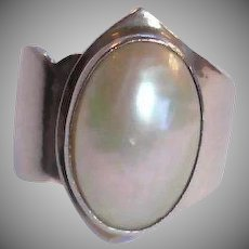 Vintage Sterling Silver NAKAI Pearl RING
