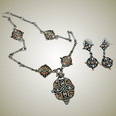 SALE ***  Kenneth Cole Necklace and Earrings Demi Parure – Necklace Earrings Set