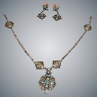 Vintage  Kenneth Cole Necklace and Earrings Demi Parure – Necklace Earrings Set