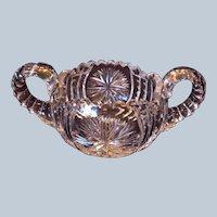 American Brilliant Cut Glass Sugar Bowl