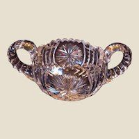 American Brilliant Cut Glass Sugar Bowl