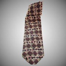 Vintage 1980's Silk Necktie - Vintage Men's Wear